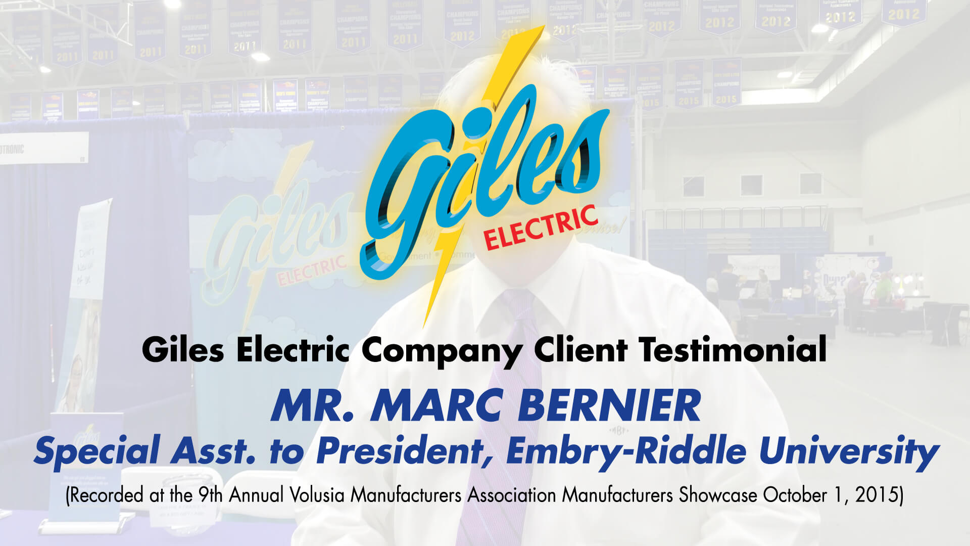 Marc Bernier Special Asst To The President Embry Riddle University Commercial And Industrial Wiring Testimonial